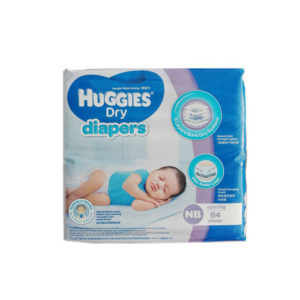0-5kg (NB), 64pcs Belt System Diaper, Huggies