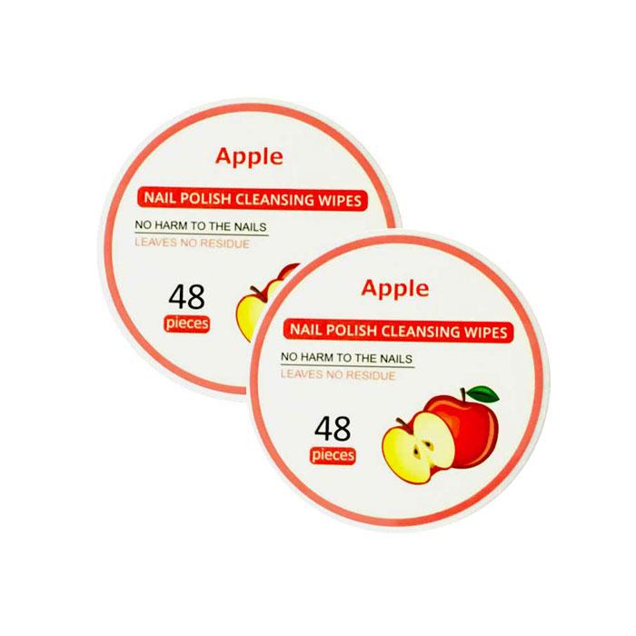 Nail Polish Remover Cleansing Wipes 96pcs Apple Fragrance Miniso Japan Shahebbibi Com