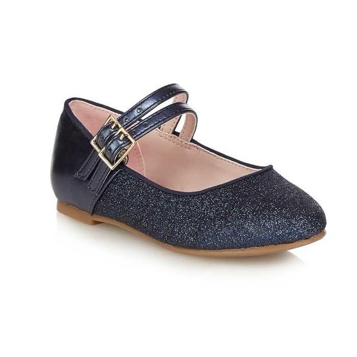 28f84d21 Girls' Glitter Navy Blue Party Shoes – Jasper Conran, UK – ShahebBiBi.com