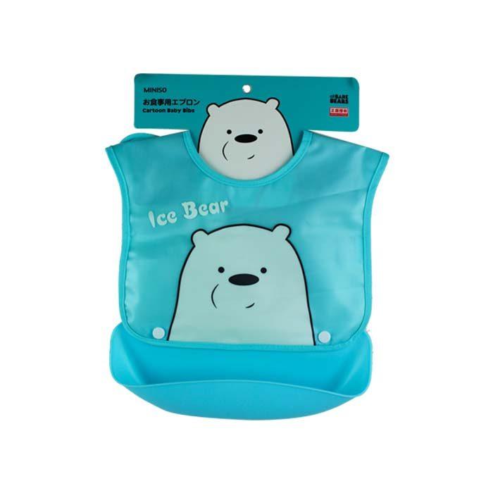 4fa4059b1e9278 3D Cartoon Baby Bibs, We Bare Bears – Ice Bear – ShahebBiBi.com
