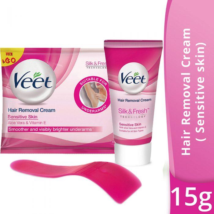 Veet Hair Removal Cream Sensitive Skin 15 Gm Shahebbibi